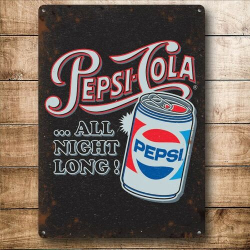 Pepsi Cola Style Vintage Métal Signe nouveau 20 cm x15cm C
