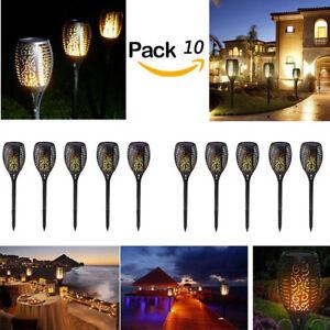 4//6 Pack 96 LED Flickering landscape Lamp Dancing Flame Solar Torch Garden Light