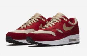 Details about Nike Air Max 1 Premium Retro Curry Pack Men's Size 8.5 Red Rush Red 908366 600