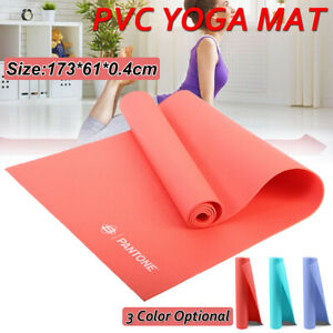 Yoga-amp-Exercise-Mat-Thick-Non-Slip-Shock-Absorbing-Pad-Workout-173-61-0-4cm