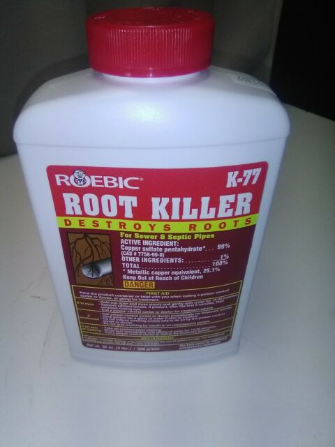 ROEBIC K-77 32OZ SEWER & SEPTIC PLUMBING LINE ROOT KILLER