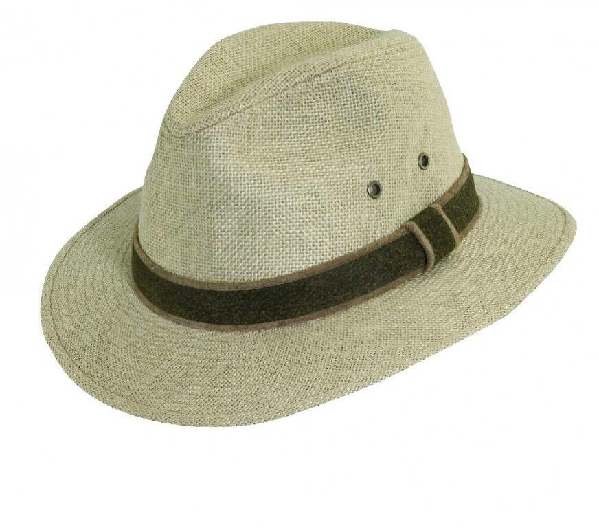 Hemp Hat Safari HEMP HAT SIZE XXL 62 63 Leisure Hat Summer Hat Leather Band