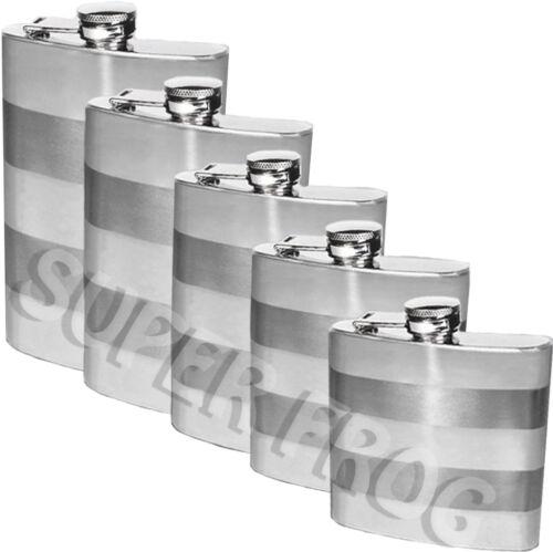 Stainless Steel Pocket Hip Bottle Flask Alcohol Vodka Whiskey Holder 6 7 8 9 10