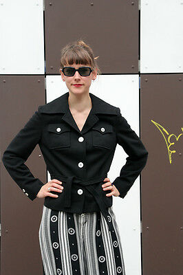 Giacca Donna Continent Style Woman Jacket 90er True Vintage 90s Nero Black-