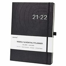 2021 2022 Planner Weekly Monthly And Year Planner With Pen 85 X 11 Black