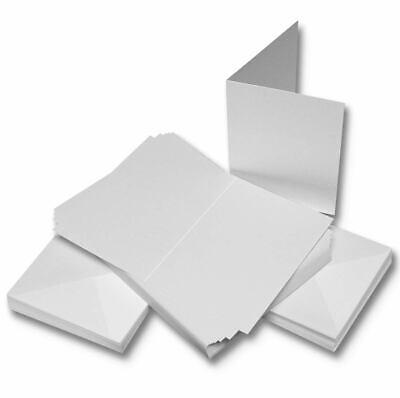 50 DL SIZE WHITE BLANK CARDS 225gsm /& ENVELOPES 120gsm CARD MAKING CRAFT ART 263