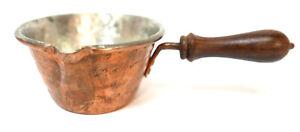 "Alla Monda Hammered Copper Small 4.5"" x 4"" x 2"" Butter Chocolate Pan Pot"