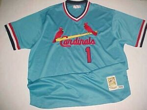 reputable site bd94e 28161 Details about 1982 St. Louis Cardinals Ozzie Smith #1 MLB NL Cooperstown  Blue Red Jersey 3XL