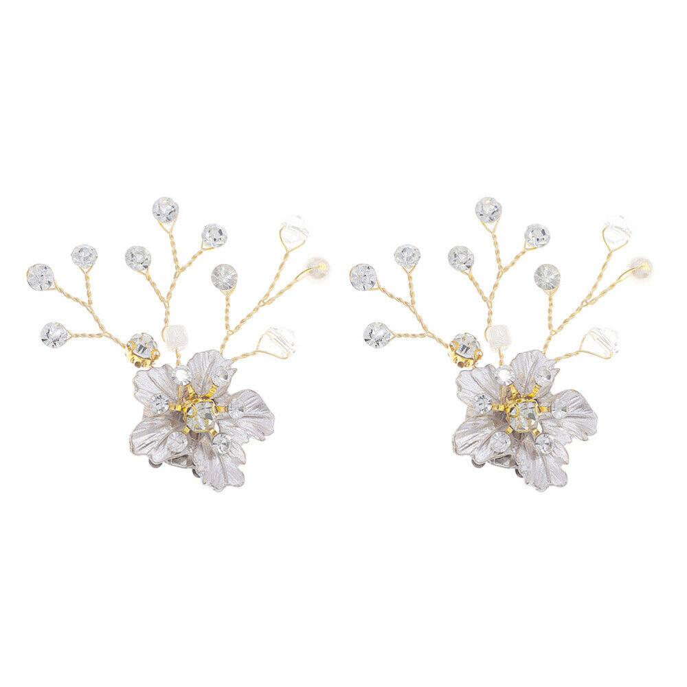 1 Pair Buckles Decorative Shiny Rhinestone Fashion Shoe Jewelry Clip for Wedding