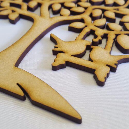 Family Tree Love Wedding,Guestbook Bird Tree 3mm MDF Laser Cut Shape Xmas Craft