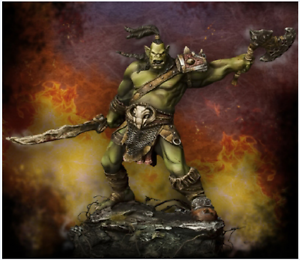 1 24 Scale Model Kit ORC Warrior 75 mm High Quality Resin Kit Free Shipping