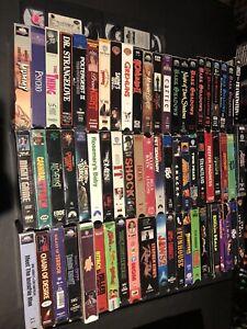 Huge-VHS-Lot-Of-67-Horror-Rare-Box-Collectors-Slasher-Big-Dead-Killer-Evil-Tapes
