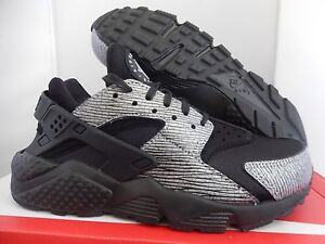 d1fa31212c39 NIKE AIR HUARACHE RUN PRM PREMIUM BLACK-METALLIC SILVER SZ 5.5 ...