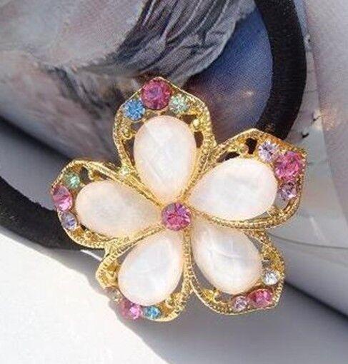New Hot Women's fashion hair diamond multi-slice crystal flower hair band