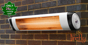 Firefly 2kw Wall Mounted Patio Heater Thermostat Remote
