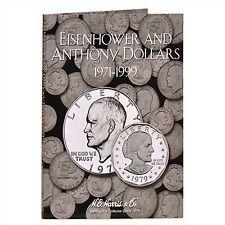 H E HARRIS #2699 Coin Folder Eisenhower-Anthony Dollar Folder 1971-1999