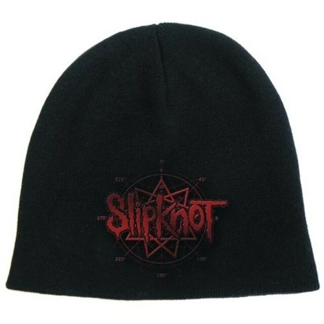 Bravado Official Slipknot - Logo - Cotton Beanie Hat - Band Black Red Mens