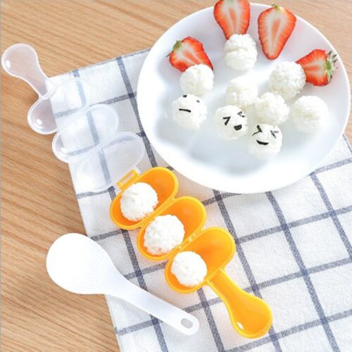 Rice Ball Molds Ball Shape Sushi Maker Mould Rice DIY with Spoon Kitchen Tools
