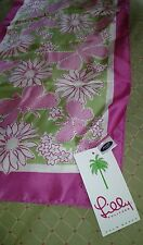 NEW WITH TAGS $30 LILLYPULITZER/FORD 100% SILK BREAST CANCER AWARENESS SCARF