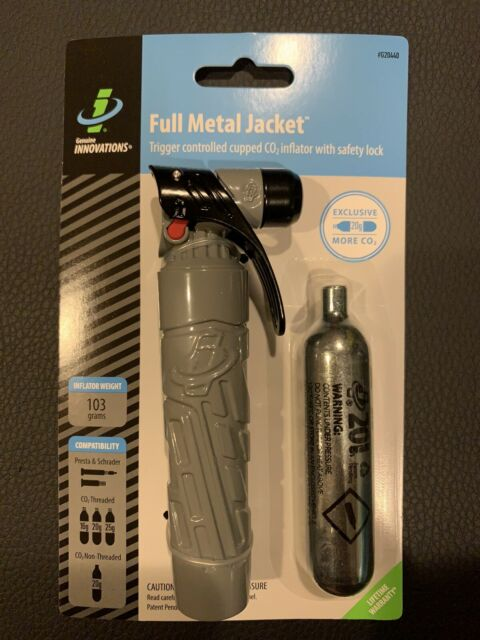 Genuine Innovations FULL METAL JACKET CO2 Vélo Cycle Pneu Gonfleur pneumatique pompe Kit