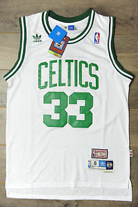 timeless design 4c0b9 5ebd2 Details about Larry Bird #33 Boston Celtics Jersey Swingman Classics Retro  New Mens White