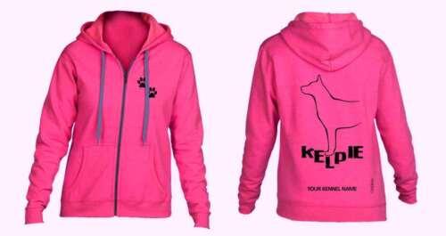 Kelpie Full Zipped Dog Breed Hoodie Exclusive Dogeria Design