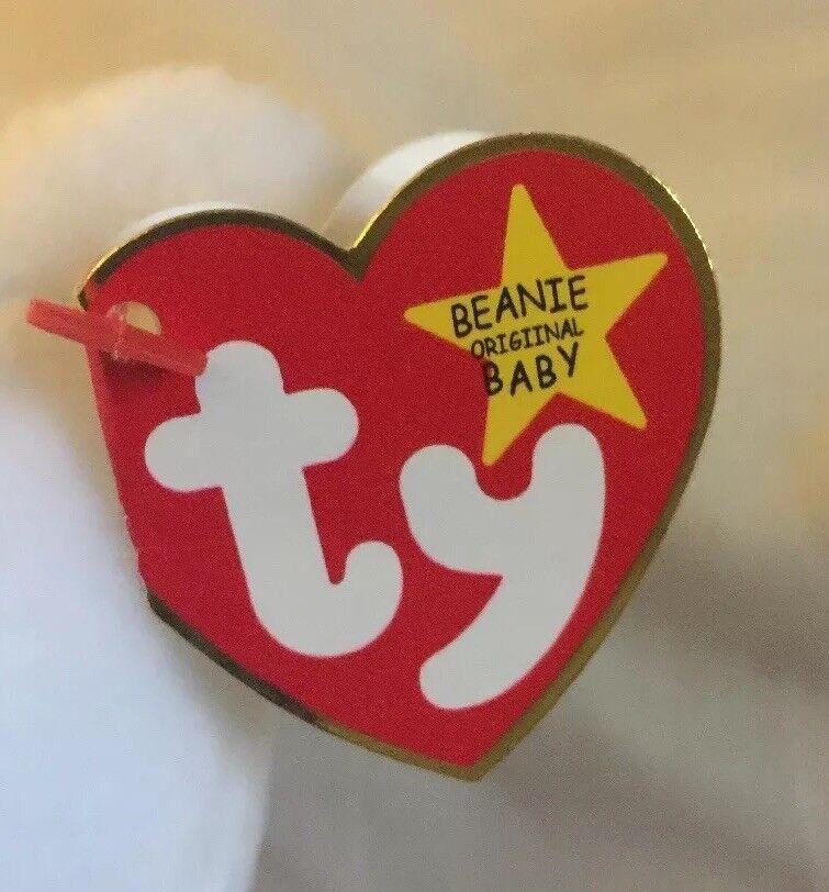 RARE 93 94 Retired Ty Beanie Beanie Beanie Baby VALENTINO - w 6 tag errors, PVC, BROWN NOSE 8adc16