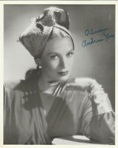 Andrea-King-Actress-Vintage-B-amp-W-Photograph-Signed