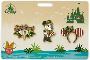 Disney-Minnie-Mouse-Main-Attraction-Pin-Set-Jungle-Cruise-Limited-Release