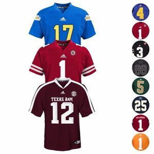 NCAA-Official-Football-Jersey-Collection-Youth-Size-S-XL-Team-N-W