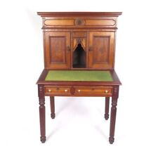 Antique secretary writing desk tiger bird eye maple Wells Fargo style Orleans MA
