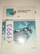 SKIDOO 1993 PARTS CATALOG  MANUAL ELAN