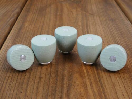5 Möbelgriffe Metall//Holz Mint Möbelknauf Griff Knauf Möbelgriff