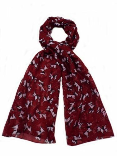 4 Colours 91499 Ladies Scarf Collection Scotty Dog Design Great Price!
