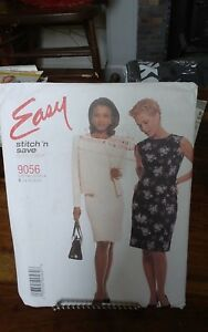 Oop-Mccalls-easy-9056-misses-unlined-summer-dress-and-jacket-sz-14-20-NEW