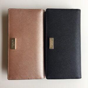 9d1c1183b00e NWT Kate Spade Laurel Way Stacy Saffiano Leather Wallet Black