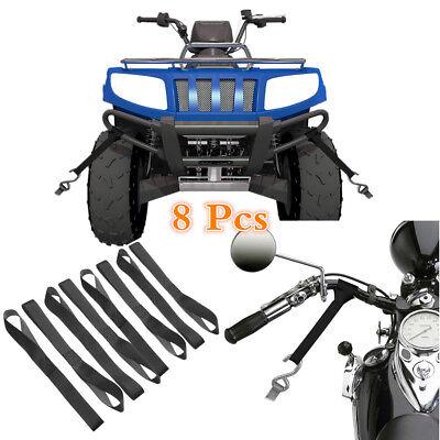 Snowmobile UTV Street Bike 8 Pcs Abrasion Resistant Nylon Soft Loops For ATV