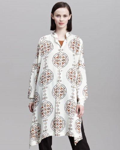 Nuevo Eskandar Talla 0 1x 2x Mármol Camisa  Túnica De Seda Estampada inlalid petradura  tomamos a los clientes como nuestro dios