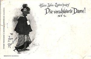 Judaika, Affaire Zola-Esterhayz, Die verschleierte Dame, 1898 - Deutschland - Judaika, Affaire Zola-Esterhayz, Die verschleierte Dame, 1898 - Deutschland
