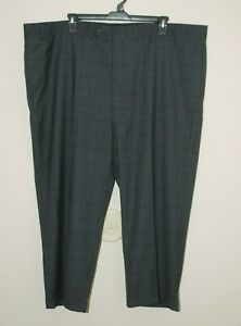 Geoffrey-Beene-Men-039-s-Dress-Pants-Size-Size-52-X-32-Charcoal-Gray-Flat-Front