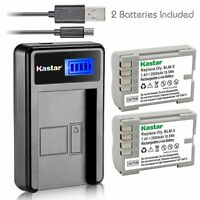 Kastar Battery And Lcd Slim Usb Charger For Olympus Ps-blm5 C-8080 E5 E520 E330