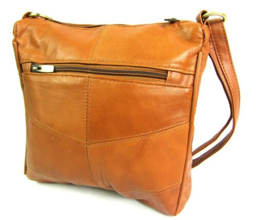 Details about  /Ladies Womens High Quality Genuine Super Soft Leather Crossover Body Handbag Bag