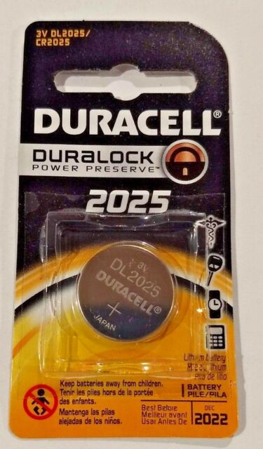 Duracell 2025 DL2025 CR2025 Lithium Coin Battery Sealed New