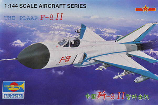 Trumpeter 01328 1 144 Static Model DIY The PLAAF F-8II Aircraft Plane Fighter