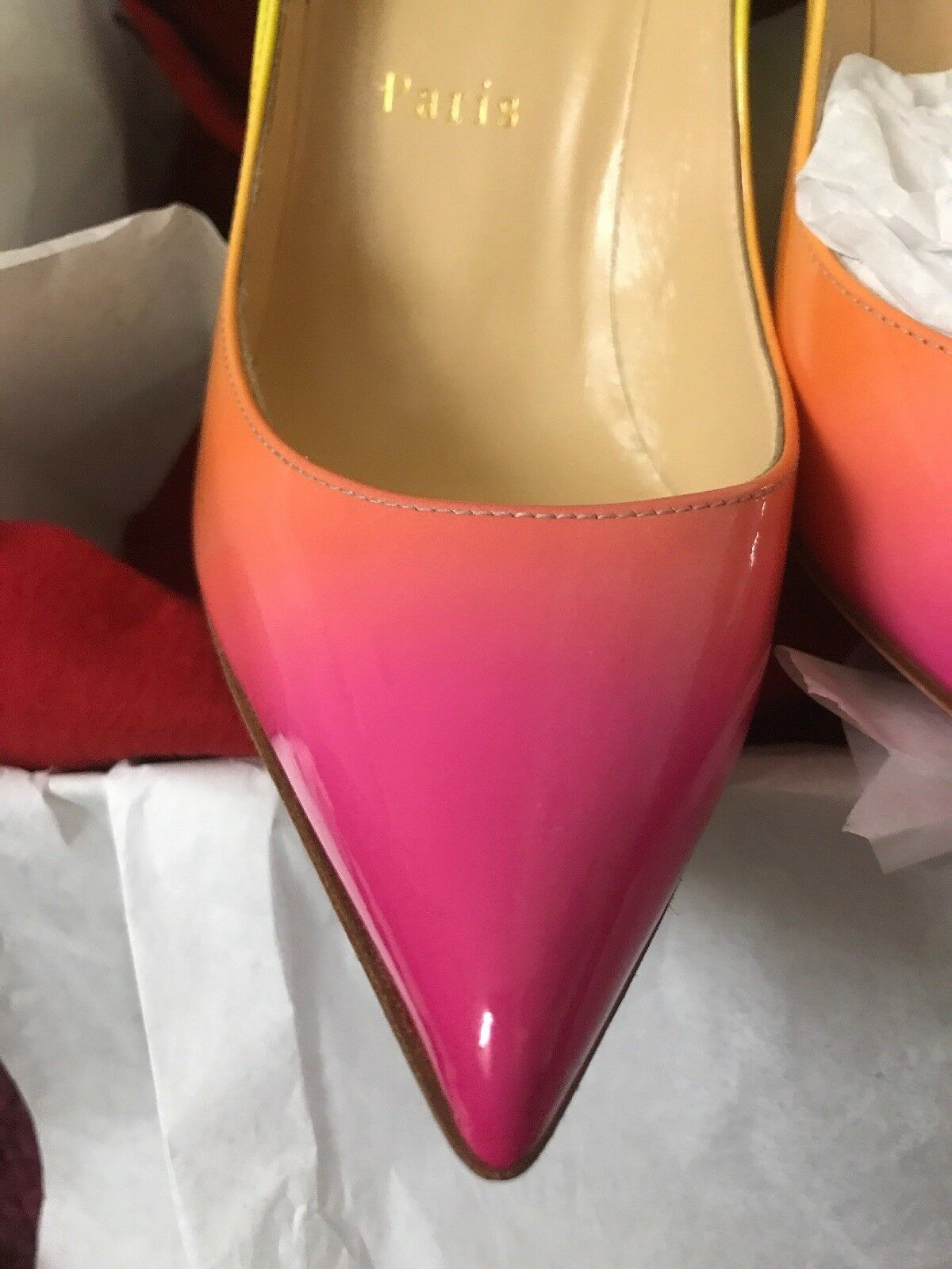 the best attitude 0eb37 d68d0 New Christian Louboutin Pigalle Follies Rainbow Heel Pump ...