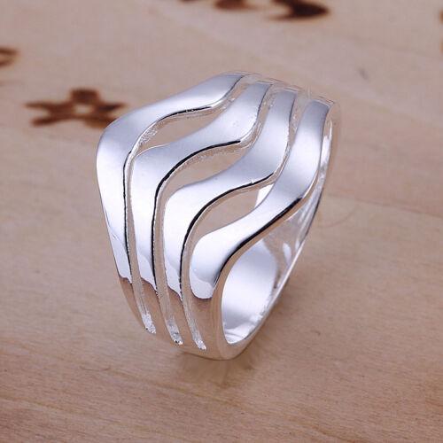 Livraison gratuite Wholesale sterling solid silver Fashion Ripple Ring xlsr 123