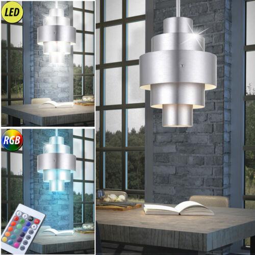 Design LED Decken Leuchte RGB Fernbedienung Ess Zimmer ALU Pendel Lampe dimmbar