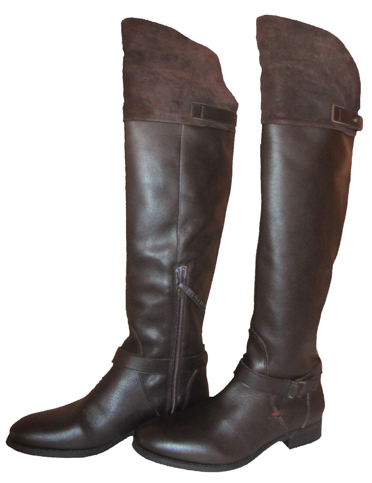 TOMMY HILFIGER HAMILTON 12 Stiefel C  DAMEN LEDER Stiefel 12 STIEFEL BRAUN NEU & OVP 8eb38d