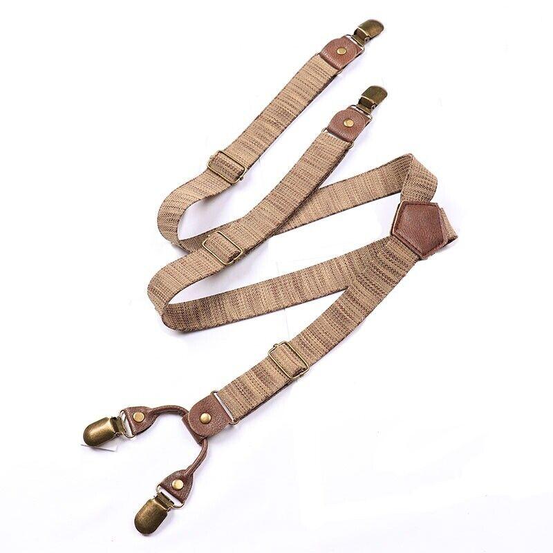 25mm Men Trouser Braces Heavy Duty Elastic Y-Back Adjustable Suspender Accessory