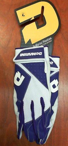 Size Large DeMarini Phantom Men/'s Baseball//Softball Batting Gloves Purple//White